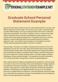 Personal Statement For Graduate School Examples Graduate School Personal Statement Example