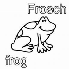 kostenlose malvorlage englisch lernen frosch frog zum