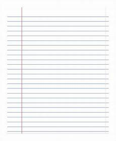 Notebook Paper Template For Word Printable Notebook Paper 9 Free Pdf Documents Download
