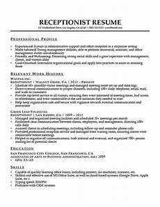 Receptionist Job Resumes Receptionist Resume Sample Resume Companion