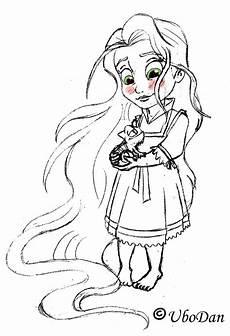 Malvorlagen Prinzessin Rapunzel Baby Rapunzel Dibujo Disney Prinzessin Malvorlagen