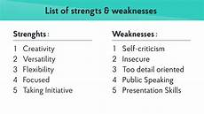 Leadership Strengths And Weaknesses List What Are Your Strengths Amp Weaknesses Best Answers Examples