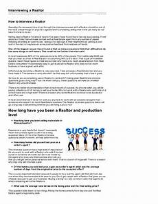Real Estate Interview Questions Interview Questions For A Real Estate Agent