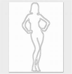 Outline Of A Female Body Template Female Body Outline Template 9 Printable Worksheets