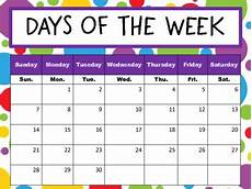 Printable Days Of The Week Chart Days Of The Week Chart By Nobles Nest Teachers Pay Teachers