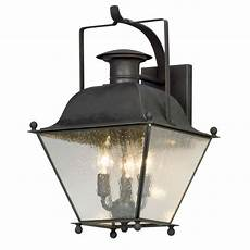 Black Iron Outdoor Lights Seeded Glass Outdoor Wall Light Iron Troy Lighting