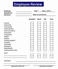 Staff Review Template Employee Performance Review Template Cyberuse