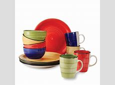 Gibson 12 Pc. Dinnerware Set   Color Vibes
