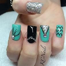 Black And Teal Nail Designs 15 Teal Nail Designs Pretty Designs
