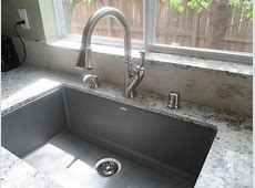 Blanco PRECIS Undermount Granite Composite 32 in. Single Bowl Kitchen Sink in White 440150 in