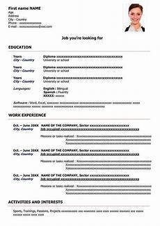Free Sample Of Resume Format Sample Resume Format For Free Download Cv Word Templates