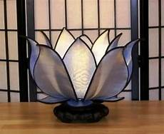 Silk Flower Lights Hand Made Gorgeous Silk Blooming Lotus Flower Table Or