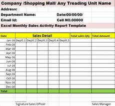 Sales Activity Report Template Excel Excel Monthly Report Template Excel Word Templates