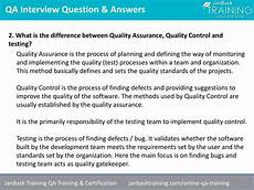 Quality Assurance Interview Questions And Answers Ppt Software Quality Assurance Qa Testing Interview