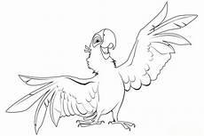 ausmalbilder zum ausdrucken gratis malvorlagen papagei 3