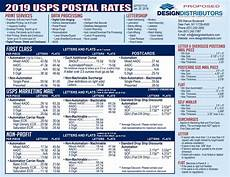 Us Postal Rates 2019 Chart Usps Postal Rates Design Distributors