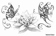 tatuaggio fiore di loto e farfalla casula butterflies
