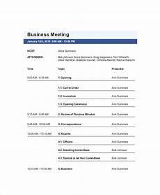Agenda Of Meeting Sample Format 8 Meeting Agenda Templates Free Amp Premium Templates