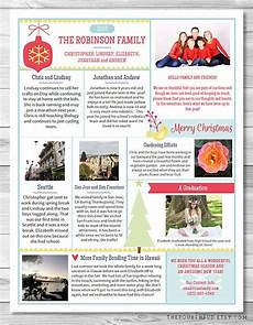Christmas Family Newsletter Templates Free Christmas Letter Year In Review Christmas Newsletter