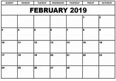 Blank Fillable Calendar Printable Calendars Save February 2019 Calendar Printable