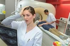 Shock Technician Mri Result 2 Stock Image Image Of Skeleton Examine Scan