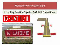 Mandatory Airport Instruction Signs Are Designated By Ppt Airport Lighting Markings And Sign Systems