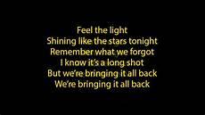 Stand In The Light Lyrics Feel The Light Lyrics Full Song Youtube