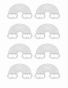 Rainbow Printable Template Cute Rainbow Patterns With Clouds Free Template You Can