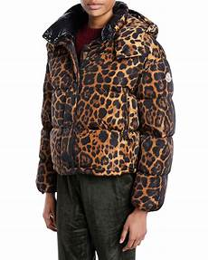 animal coats moncler caille animal print puffer coat w removable