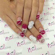 Acrylic Nails With Flower Design 30 3d Acrylic Nail Art Designs Ideas Design Trends