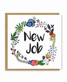 Congrats On New Job Card New Job Card Congratulations On Your New Job Good Luck In