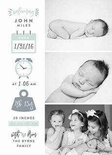 Baby Boy Birth Announcement Ideas Ideas For Creating Birth Announcements Easy Classic