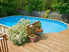 Above Ground Swimming Pool Designs Above Ground Pool Decks Hgtv