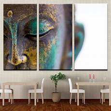 canvas paintings wall home decor 3 pieces buddha