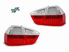 E90 Euro Lights Depo 06 08 Bmw E90 4d Red Clear Blackline Led Lights
