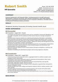 Human Resource Resume Objective Human Resource Generalist Resume Objective September 2020