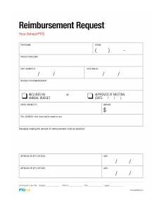 Reimbursement Format Pto Today Reimbursement Request Form Pto Today