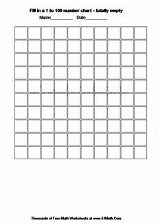 Fill In 100 Chart Fill In A 1 To 100 Number Chart Totally Empty Create