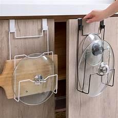 cabinet door lid organizer rack pot pan lid storage holder