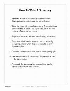 How To Write A Job Summary For A Resume How To Write A Summary