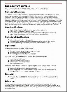 Professional Cv Format For Engineers Engineer Cv Sample Curriculum Vitae Builder Cv