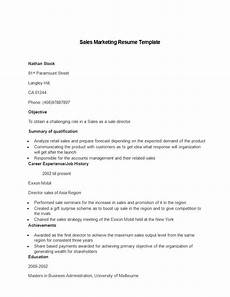 Sales Marketing Resume Sample 21 Perfect Marketing Resume Templates For Every Job Seeker