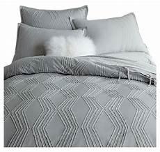 roar rabbit zigzag texture duvet cover gray