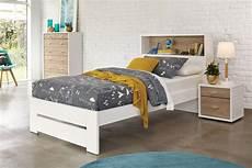 single bed frame with storage headboard by platform