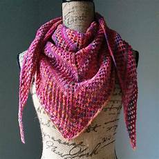 stricken dreieckstuch casual lace knit shawl purl avenue