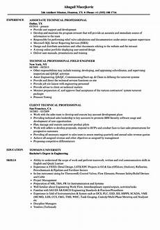 Professional Or Technical Skills For Resume Technical Professional Resume Samples Velvet Jobs