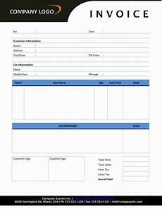 Auto Repair Bill Template Auto Repair Invoice