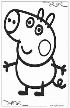 Peppa Pig Ausmalbilder Peppa Pig Coloring Page For Your Ones