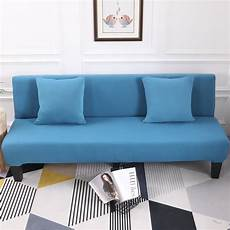 lake blue all inclusive slip resistant armless sofa cover