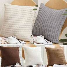 knitting throw pillow cases cafe zipper zip up sofa